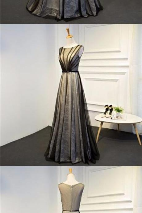 Black Prom Dresses A-line Floor-length Lace Prom Dress/Evening Dress